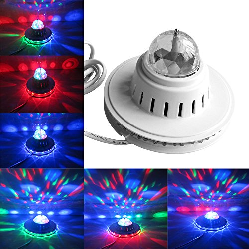 SBX LED Sunflower Crystal Magic Bulb Lamp Full Color Rotating Stage Light Bar Club for Xmas Home Dance Party Ballroom Club Pub Bar