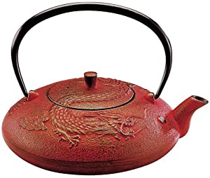 Joyce chen year of the dragon tetsubi red teapots teapots - Imperial dragon cast iron teapot ...