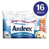 Andrex Classic White Toilet Tissue 16 per pack