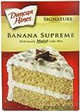 Duncan Hines Banana Supreme Cake Mix 517 g (Pack of 6)