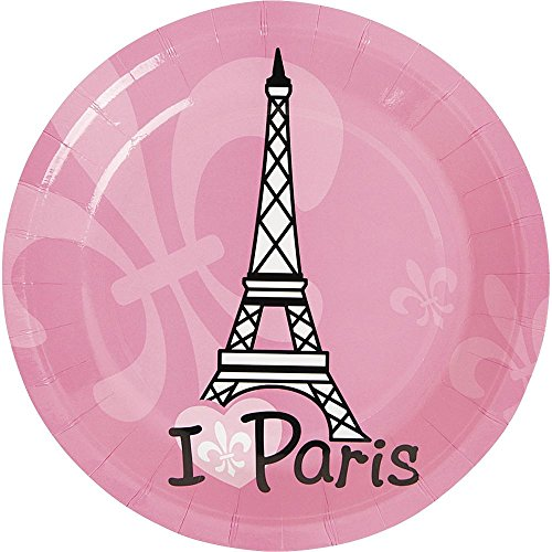 "Fun Express Paris Party Cake Plates (8 Pack), 7"" - 1"