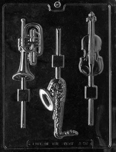 MUSICAL INSTRUMENTS LOLLY Jobs Candy Mold Chocolate