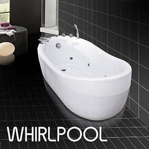 Freistehende Badewanne Whirlpool System : Freistehende Design Whirlpool Luxus Badewanne