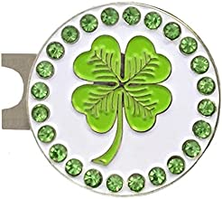 Giggle Golf - Bling Four Leaf Clover Ball Marker amp Hat Clip