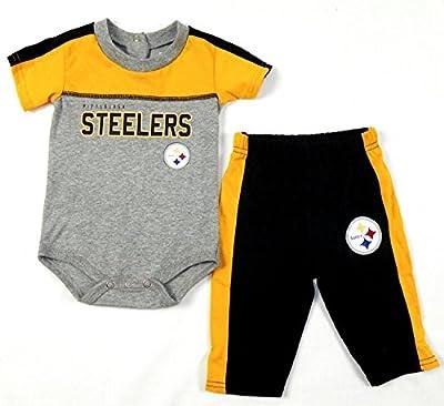 Pittsburgh Steelers NFL Infant Horizon Bodysuit Pants Set