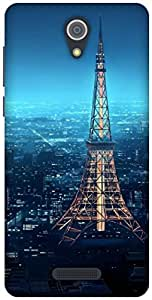 The Racoon Lean eiffel tower hard plastic printed back case / cover for Gionee Marathon M4