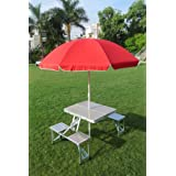 """""""Amaze"""" Aluminium Picnic Table With 8' Umbrella"""