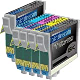 1 Pack + 1 Black of Total 5 Remanufactured Epson 126 (High Capacity) Ink Cartridges Epson 126 T126120 T126220 T126320 T126420 for Epson 126 Black Cyan Magenta Yellow Set