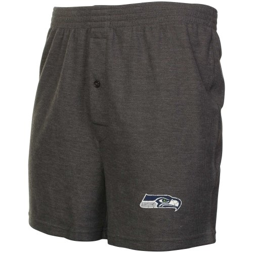 Seattle Seahawks Grassroots Knit Boxer Shorts Gray at Amazon.com