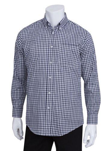 Chef Works D500 Men's Oxford Shirt, Medium, Dark Navy (Chefs Work Shirt compare prices)