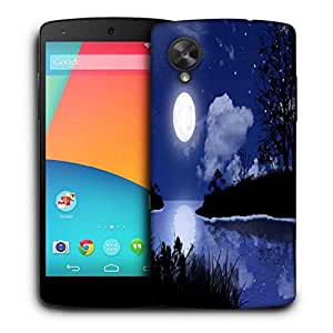 Snoogg Moon Night Printed Protective Phone Back Case Cover For LG Google Nexus 5