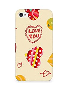 Amez designer printed 3d premium high quality back case cover for Apple iPhone 4 (Heart bright)