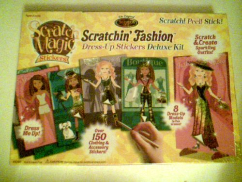 Scratchin' Fashion - Dress-Up Stickers Deluxe Kit - 1
