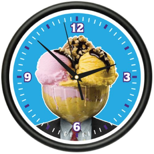 ICE CREAM Wall Clock lover shop store sundae sign gift