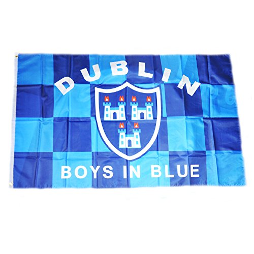 chequered-polyester-dublin-flag-with-crest-and-print-3-x-5-foot