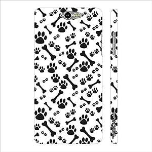Infocos M812 Dog N The Bone designer mobile hard shell case by Enthopia