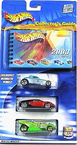 Hot Wheels 2003 Collector's Guide 3-Car Pack and Book Exclusive Paint SOOO Fast