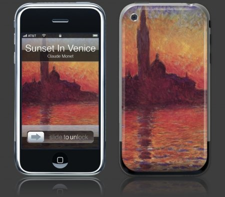 Apple iPhone Premium Vinyl Skin - Sunset In Venice (GelaSkins Brand) Made in Canada