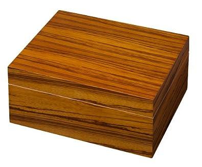 "Visol ""Zebra"" Wood Veneer Cigar Humidor"