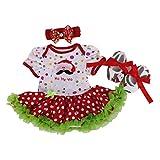 hibote vestidos ceremonia ni�a bebe cumplea�os del mameluco Romper Vestido de Tutu + Banda de cabeza + Zapatos 3 pcs, 6-12 Meses