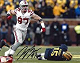 Joey Bosa Autographed Ohio State Buckeyes 8x10 Photograph - Enthusiastic Fist Pump - Certified Authentic - Autographed Photos