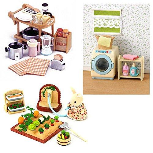 3conjuntos de sylvanian familiescon accesorioslavadora for Aparatos de cocina