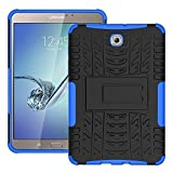 DWay Tablet Cover Tab S2 8.0 T710 Armor Design with Stand Feature Detachable Dual Layer Protective Shell Tablet Hard Back Case Cover for Samsung Galaxy Tab S2 8.0inches SM-T710 / T715 (Blue)