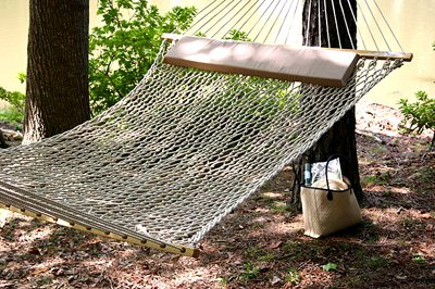Algoma Cheshire Stripe Quilted Fabric Hammock