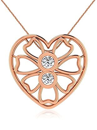 Friendly Diamonds Conjunto de cadena y colgante FDP12320R Oro Rosa