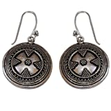 Handmade Silver Alloy Jewelry from India Round Earrings for Women 1.5 Inches ~ ShalinIndia