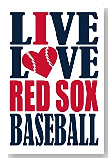Live Love I Heart Red Sox Baseball lined journal - any occasion gift idea for Boston Red Sox fans from WriteDrawDesign.com