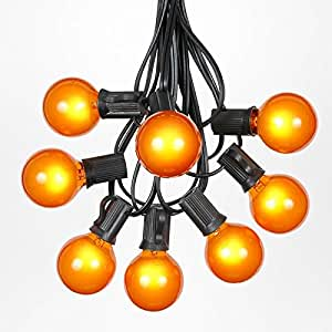 Amazon G40 Globe Outdoor String Lights With 25