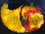 16 Lighted Thanksgiving Cornucopia Window Silhouette Decoration