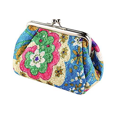 Women's Cute Embroidered Hasp Purse Clutch Bag