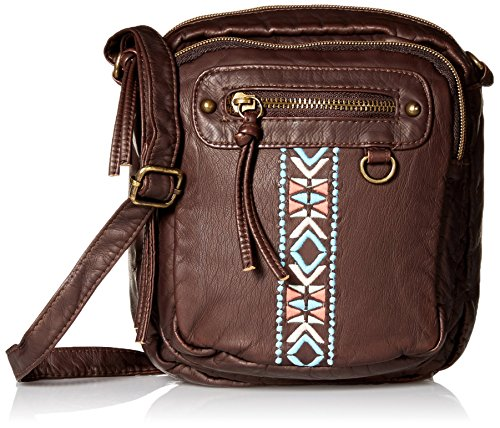 t-shirt-jeans-mini-washed-cross-body-w-embroidery-brown