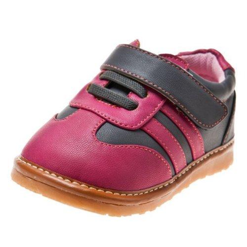 Little Blue Lamb - Chaussures à sifflet fille | Baskets rose et grise - Pointure: 22