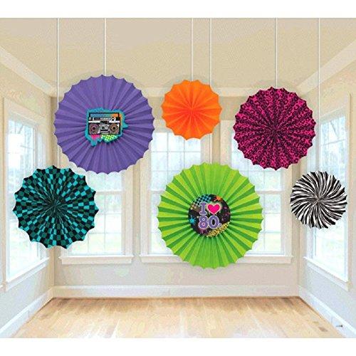 Eighties Paper Fan Decorating Kit