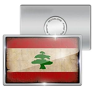 "Amazon.com: Fridge Magnet ""Lebanon Flag with a vintage ..."