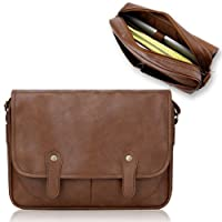 Duzign Rover Messenger Bag (Light Brown) for 13 Inch Laptop + Pocket for 10 Inch Tablet by Duzign