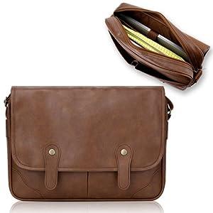 Duzign Rover Messenger Bag (Light Brown) for 13 Inch Laptop + Pocket for 10 Inch Tablet by Duzign