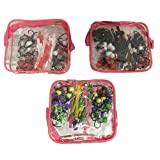 Goody Girls Mosaic Twin Beads & Barrettes 48 Pieces with Carry Case (colors may vary)
