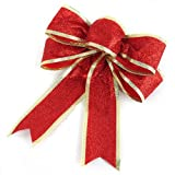 Spring Onions Powder Red Bowknot Christmas Decoration Supplies