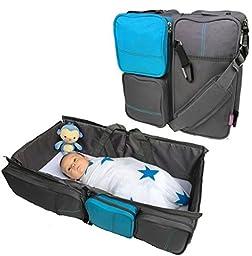 Boxum Baby 3 in 1 - Diaper Tote Bag 30 x 15.5 x 7.5-Inch, Blue