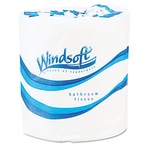 Windsoft 2200 Single Roll Bath Tissue  500 Sheets/Roll  96 R