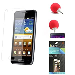 iKare Ultra Clear Pack of 9 Anti-Glare Anti-Scratch Anti-Fingerprint Screen Protector for HTC One M9 + 3.5mm Audio Dock Sponge Speaker
