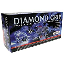Microflex MF300L Powder Free Diamond Grip Latex Gloves Size Large (100 per Box)