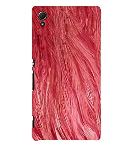 Pink Color Feather 3D Hard Polycarbonate Designer Back Case Cover for Sony Xperia Z4