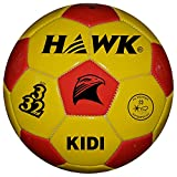 HAWK Unisex Rubber Football 3 Yellow & Red