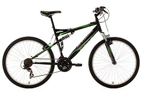 KS-Cycling-Fahrrad-Mountainbike-MTB-Fully-Paladin-RH-Schwarz-Grn-26-Zoll-333M