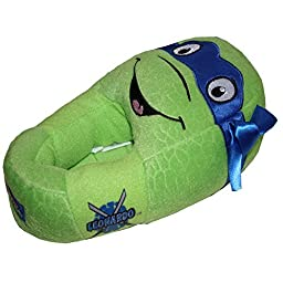 Teenage Mutant Ninja Turtles Plush Head Slippers Boy Size Medium 13/1